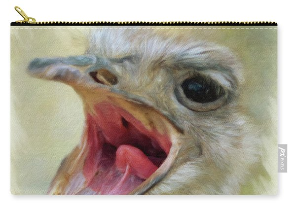Screaming Ostrich Carry-all Pouch