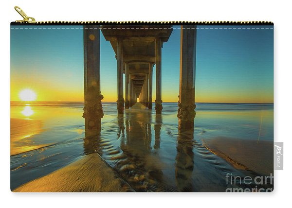 Scripps Pier San Diego Sunset 2 Carry-all Pouch
