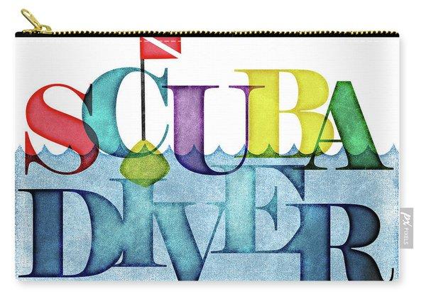 Scuba Diver Colorful Carry-all Pouch