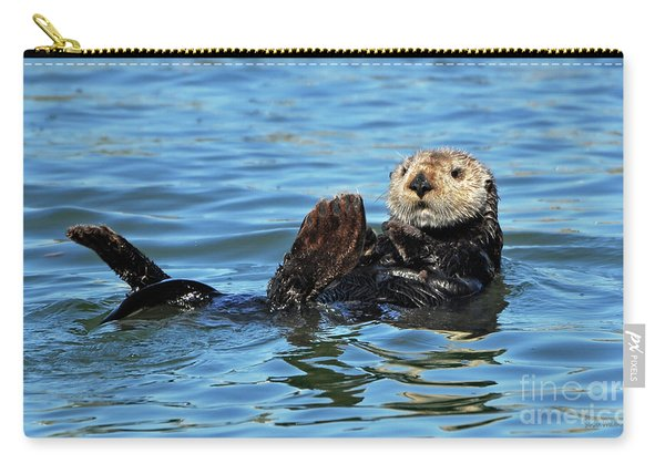 Sea Otter Primping Carry-all Pouch