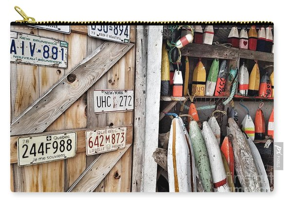 Sea Shack Plates And Buoys Carry-all Pouch