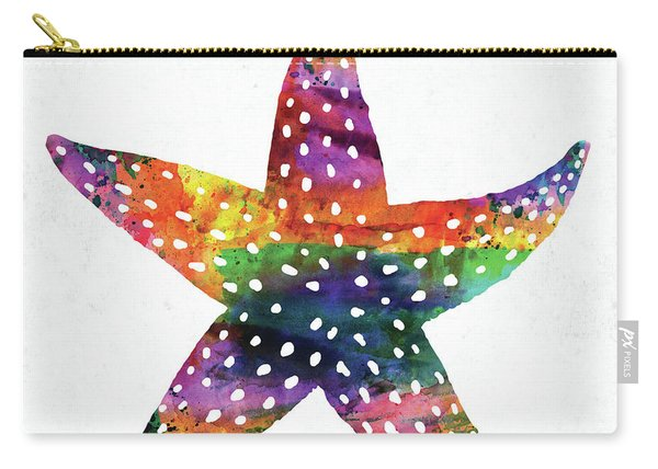 Sea Star Colorful Watercolor Carry-all Pouch