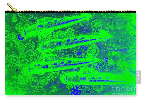 Sea Sub Sonar Carry-all Pouch
