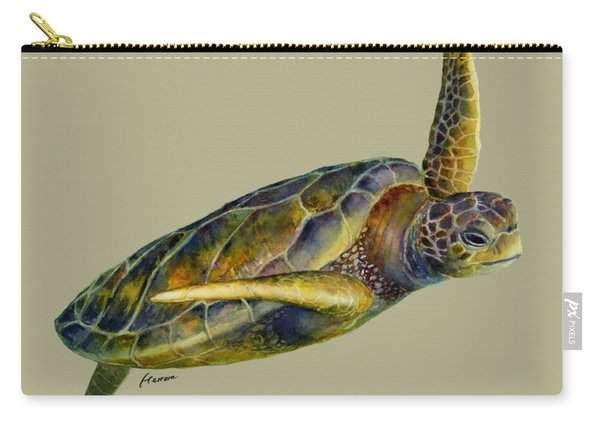 Sea Turtle 2 - Solid Background Carry-all Pouch