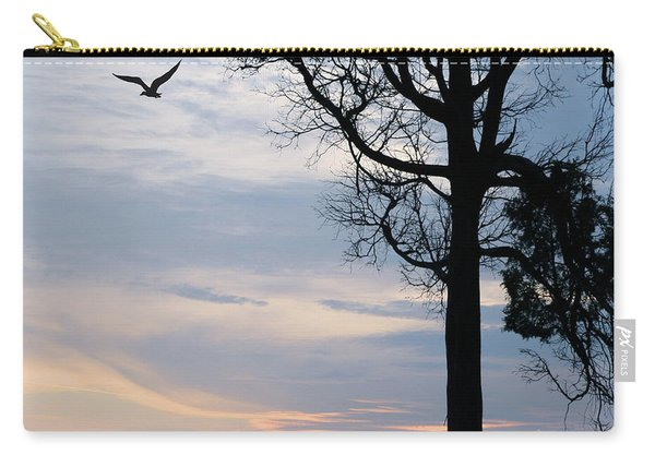 Seagull Sunset At Catawba Carry-all Pouch