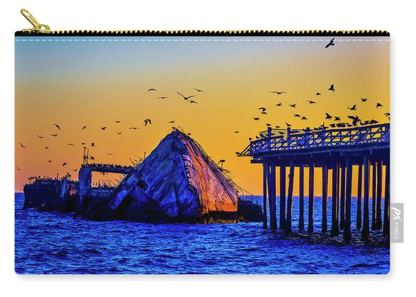 Seagulls And Sunken Ship Carry-all Pouch