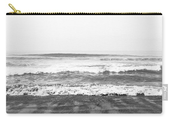 Seaside Dream Black And White - Beach Art By Linda Woods Carry-all Pouch