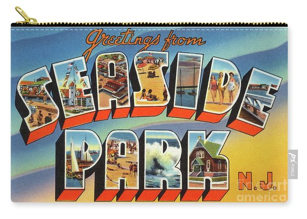 Seaside Park Greetings Carry-all Pouch
