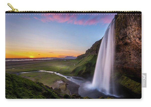 Seljalandsfoss At Sunset Carry-all Pouch