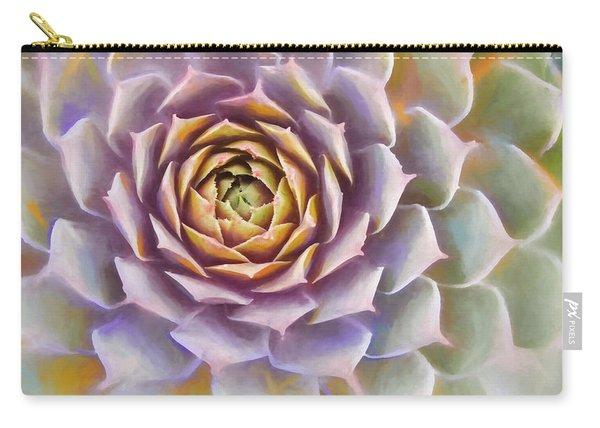 Sempervivum Succulent Painterly Look Carry-all Pouch