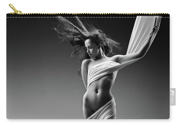 Sensual Woman In Cloth Carry-all Pouch