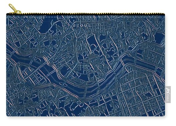 Seoul Blueprint City Map Carry-all Pouch