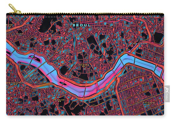 Seoul City Map Carry-all Pouch
