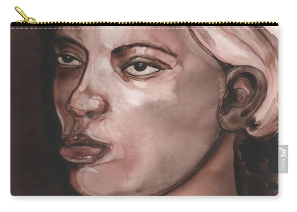 Sepia Woman Carry-all Pouch