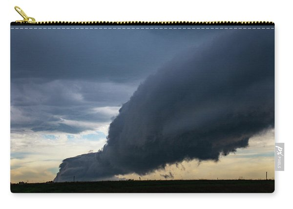 Carry-all Pouch featuring the photograph September Thunderstorms 003 by NebraskaSC
