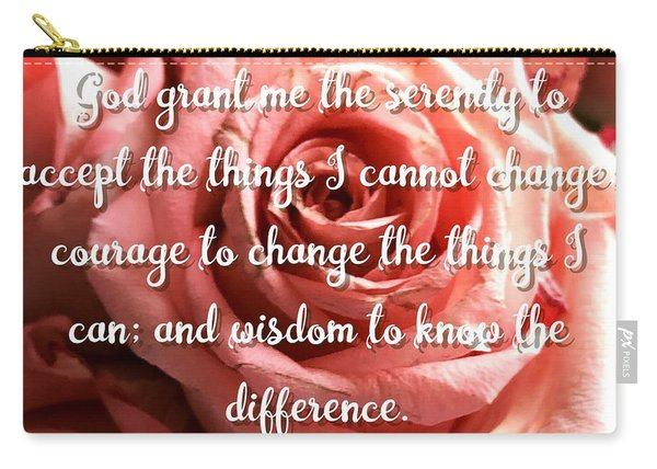 Serenity Prayer II Carry-all Pouch