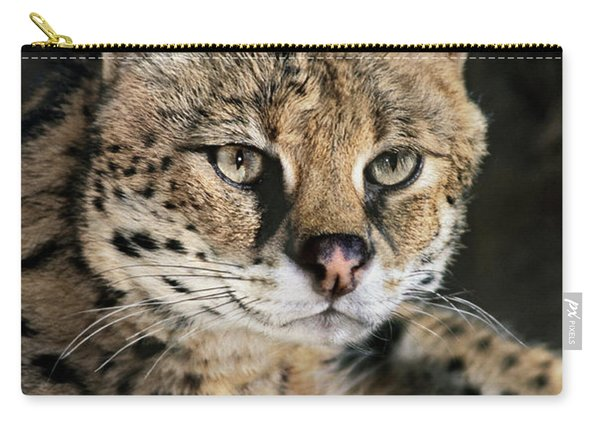 Serval Portrait Wildlife Rescue Carry-all Pouch