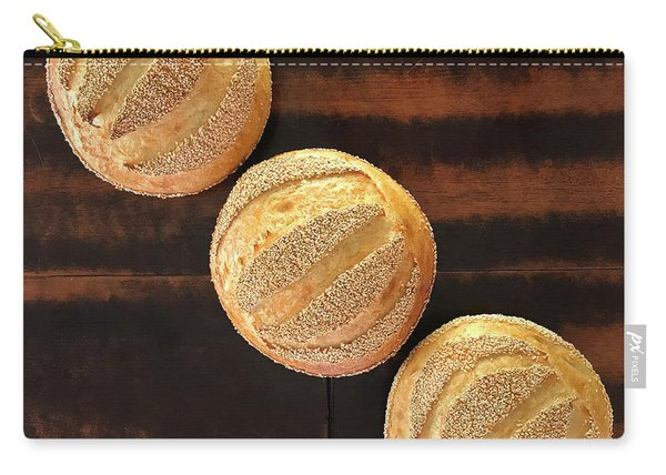 Sesame Seed Stripes 1 Carry-all Pouch