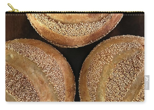Sesame Seed Stripes 3 Carry-all Pouch