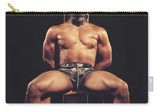 Sexy Man Tiedup On A Bdsm Chair Carry-all Pouch