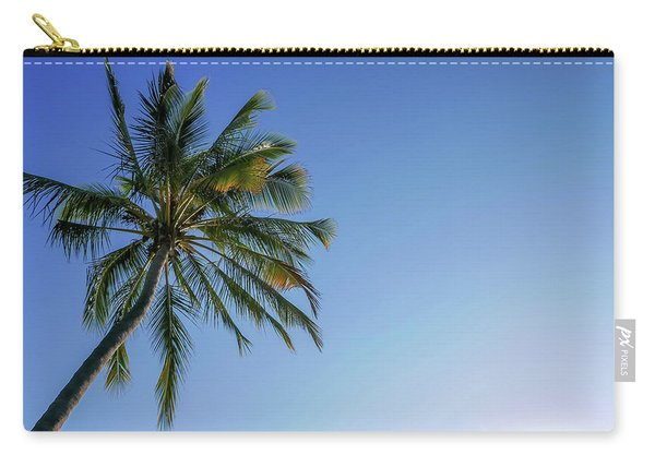 Shades Of Blue And A Palm Tree Carry-all Pouch