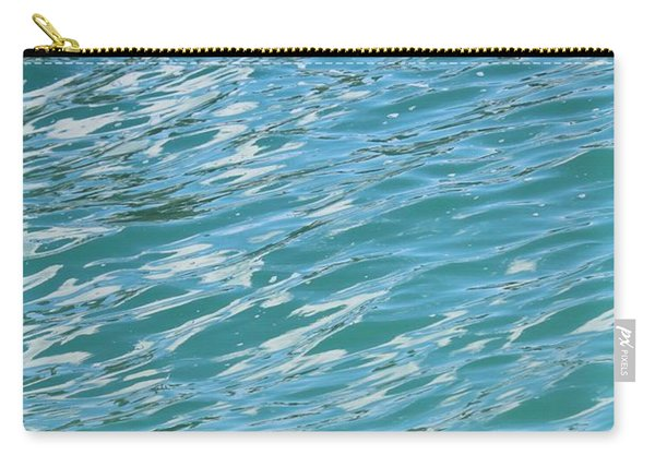 Shades Of Tropical Blue Water Carry-all Pouch