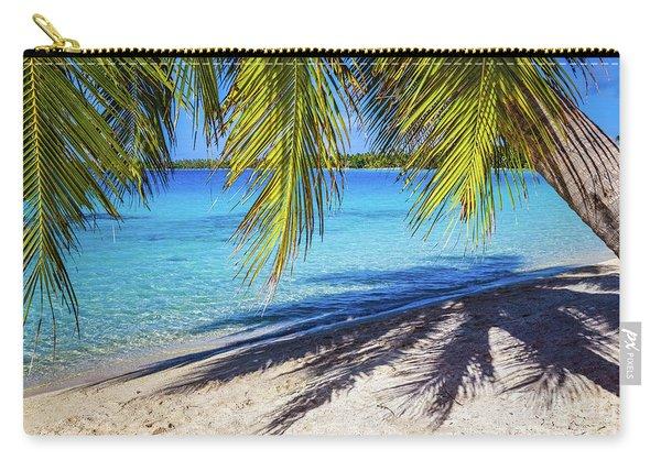 Shadows On The Beach, Takapoto, Tuamotu, French Polynesia Carry-all Pouch