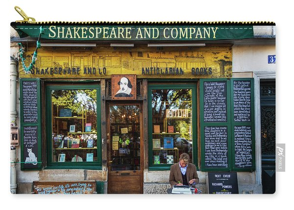 Shakespeare And Company Bookstore Carry-all Pouch