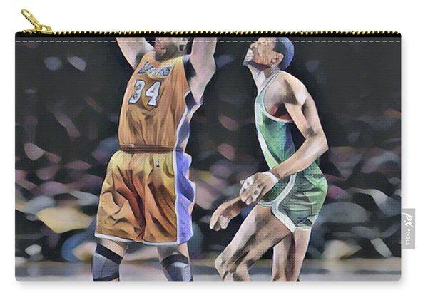 Shaquille O Neal Vs Bill Russell Abstract Art 1 Carry-all Pouch