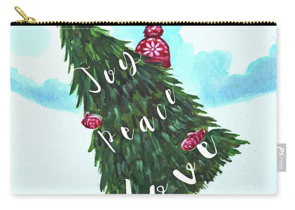 She Chose Joy, Peace And Love Carry-all Pouch