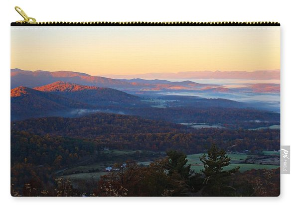 Carry-all Pouch featuring the photograph Shenandoah Mountains by Candice Trimble