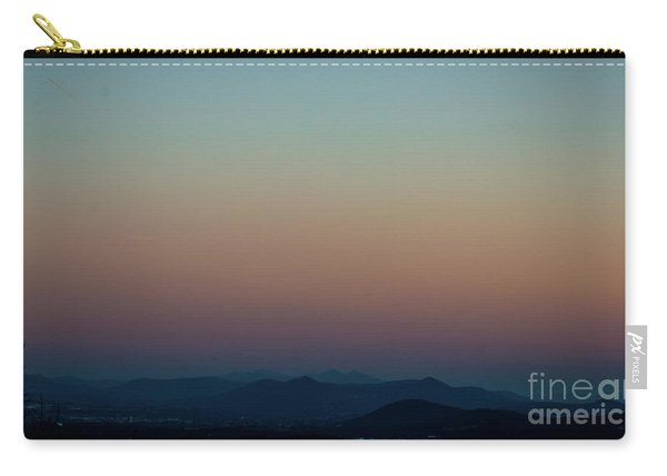 Sherbert Sunset Over The Blue Ridge Mountains Carry-all Pouch