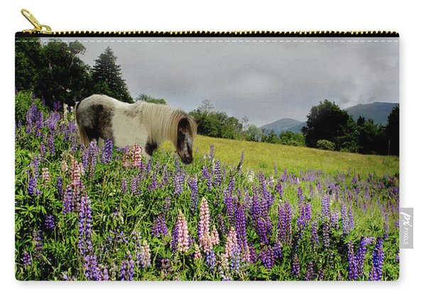 Shetland In A Lupine Field Carry-all Pouch