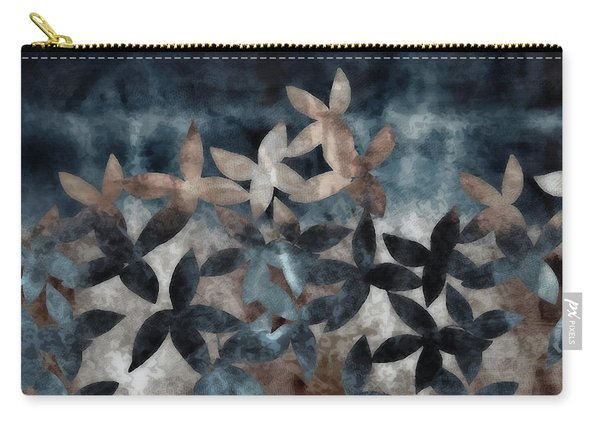 Shibori Leaves Indigo Print Carry-all Pouch