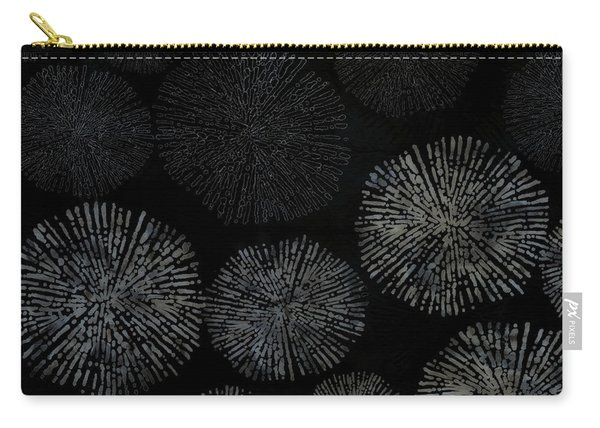Shibori Sea Urchin Burst Pattern Carry-all Pouch