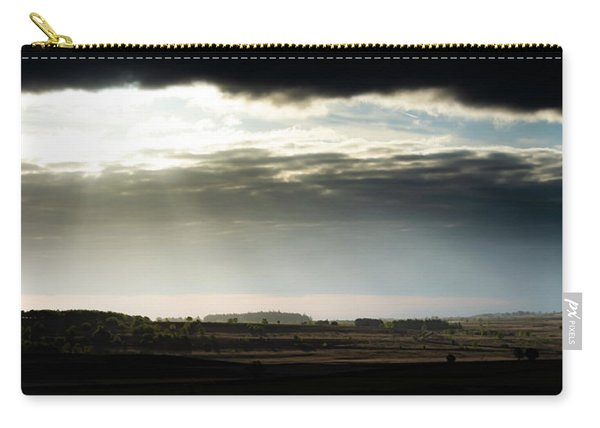 Carry-all Pouch featuring the photograph Shining Through At Baslow Edge by Scott Lyons