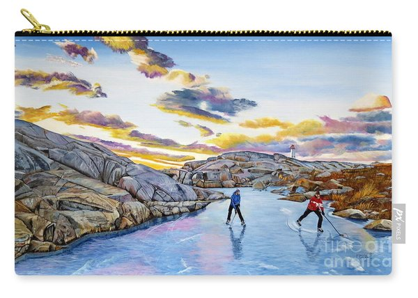 Shinny At Rock Pool Pond Carry-all Pouch