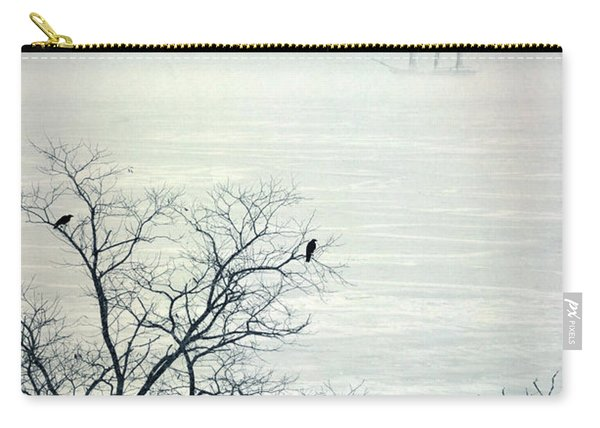 Ship On The Icy Sea Carry-all Pouch