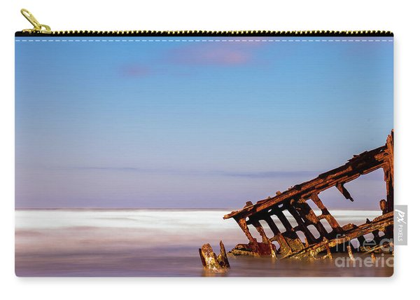 Carry-all Pouch featuring the photograph Ship Wreck by Dheeraj Mutha