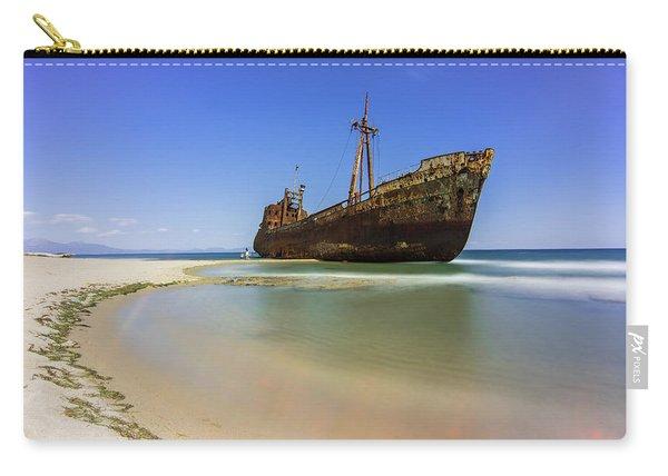 Shipwreck Dimitros Near Gythio, Greece Carry-all Pouch