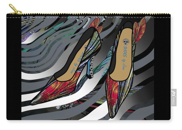 Shoes By Joan - Dragon Fly Wing Pumps Carry-all Pouch