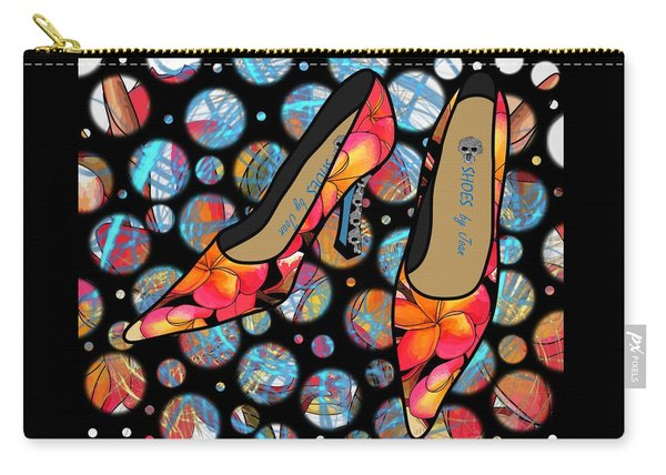 Shoes By Joan - Frangipani Pattern Pumps Carry-all Pouch