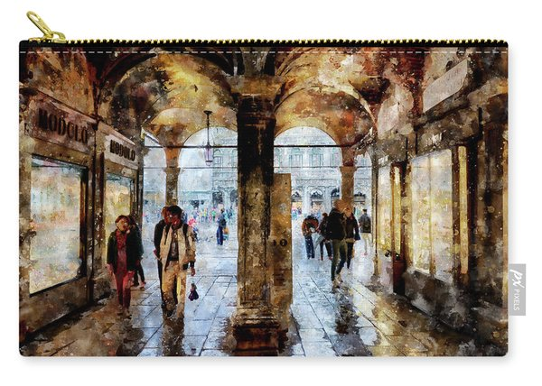 Shopping Area Of Saint Mark Square In Venice, Italy - Watercolor Effect Carry-all Pouch