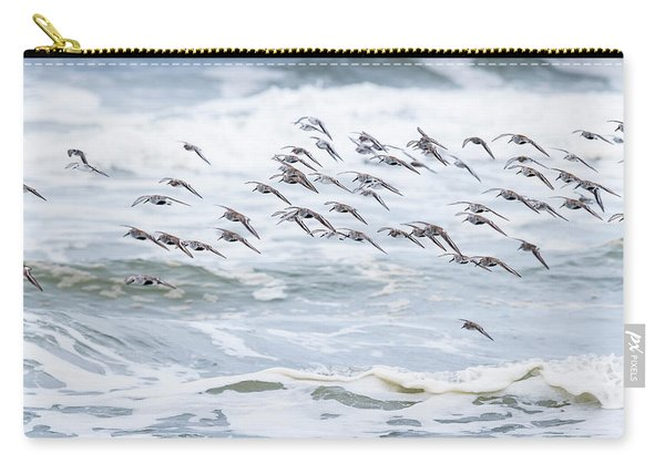 Shorebirds Fly By Carry-all Pouch