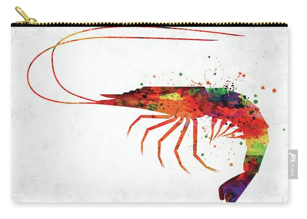 Shrimp Colorful Watercolor Carry-all Pouch