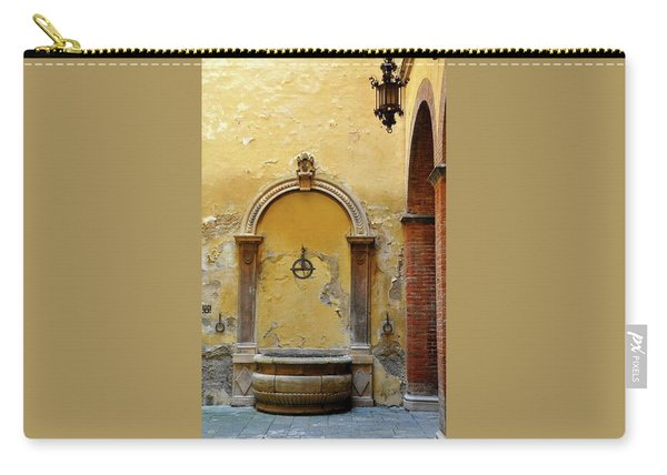 Sienna Fountain Courtyard Carry-all Pouch