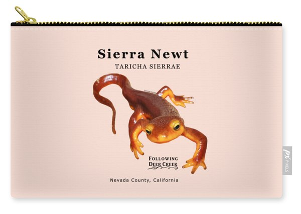 Sierra Newt - Black Text Carry-all Pouch
