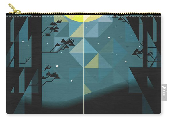 Silent Night Over Houghton Lake Michigan Carry-all Pouch