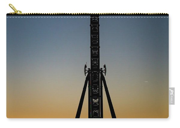 Silhouette Of A Ferris Wheel Carry-all Pouch