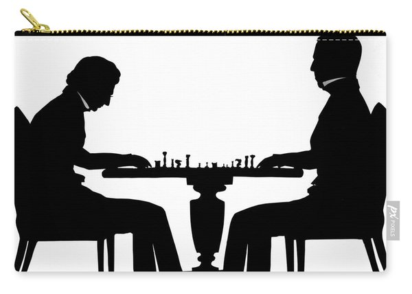 Silhouette Of Chess Players, Around 1845 Carry-all Pouch